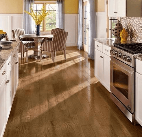 View of the kitchen flooring done by experts in Chesterfield, MO