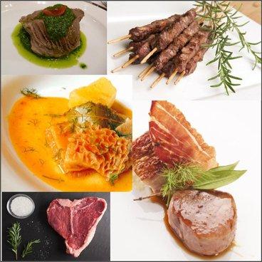 Cartello sei in uno mostrando sei diversi piatti di carne dal prosciutto al controfiletto