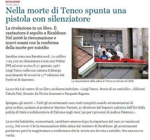 articolo Luigi Tenco