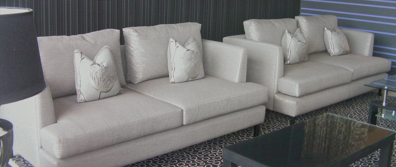 white leather sofas