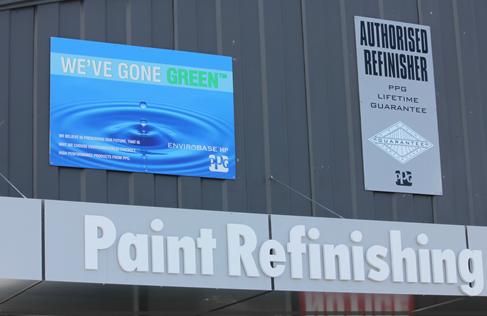 Our service board for advertisement in Hamilton, NZ