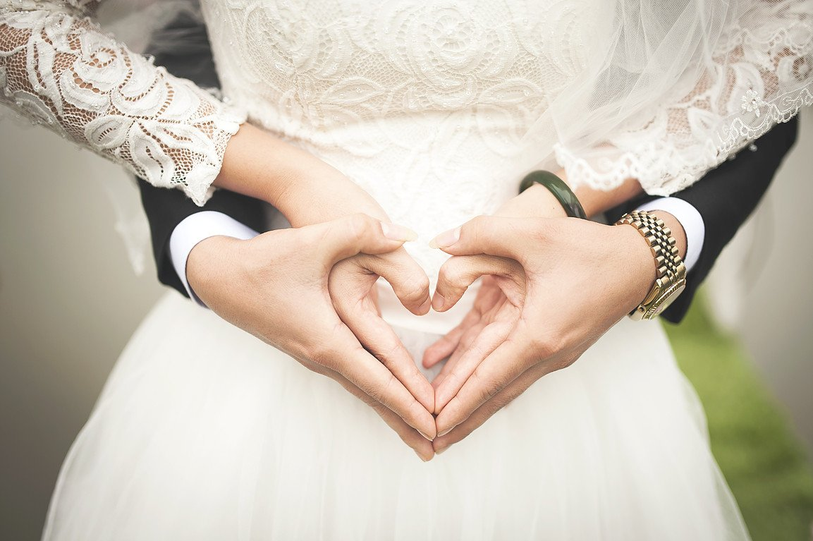 Hands in heart shape - photograph