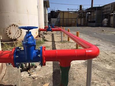Installazione dell'impianto anticendio a Lentini