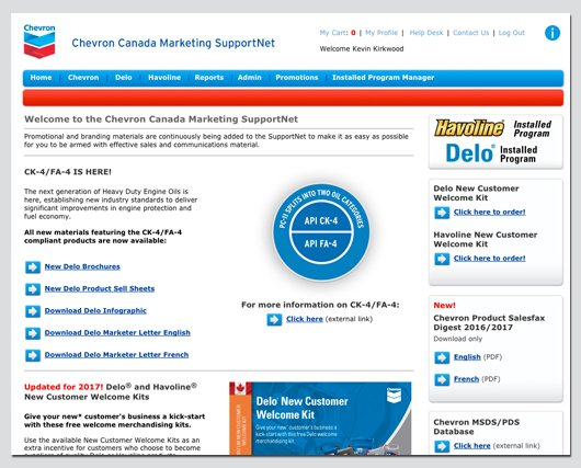 Chevron Canada – Marketing SupportNet