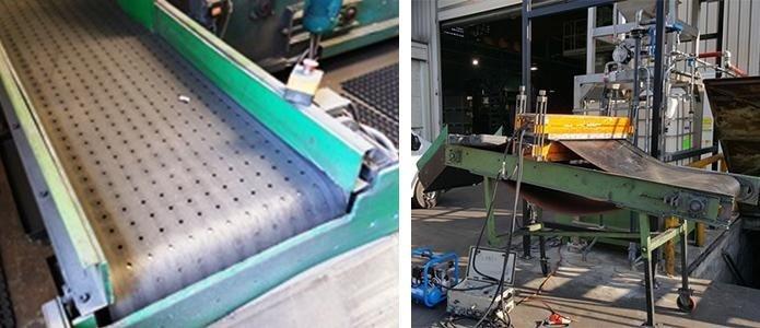 Nastri per carico e scarico sabbiatrici e per la finitura di materiali metallici