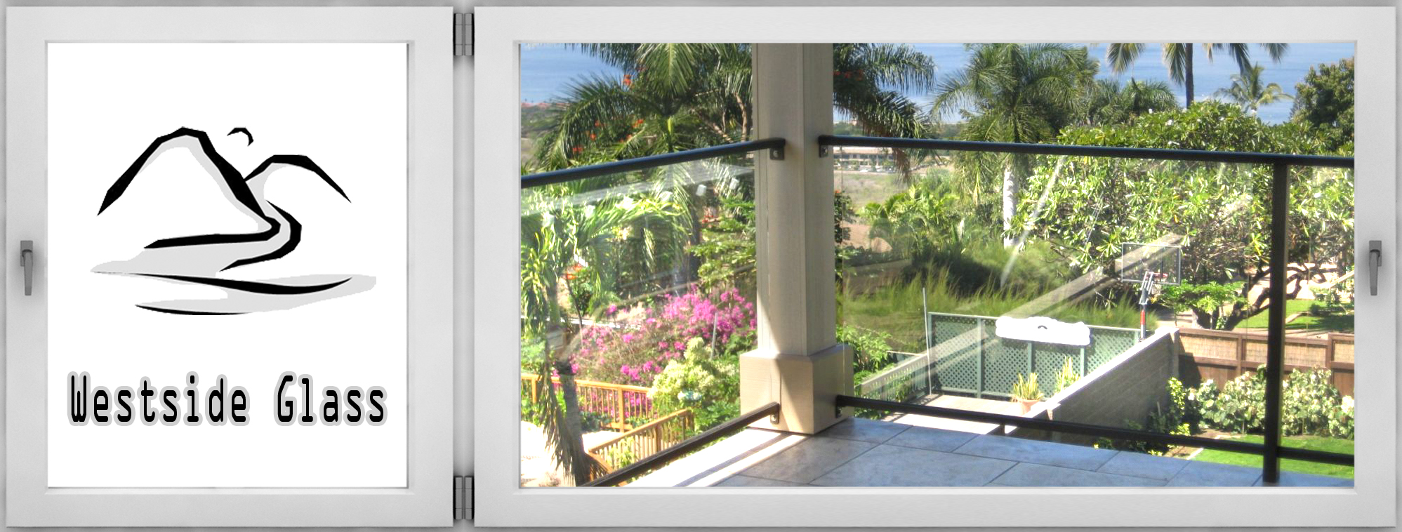 Beautiful Terrace With Large Glass And Mirror Displays In Lahaina, HI After  Mirror Installation