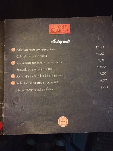 Antipasti Osteria Dal Mozzo a Marcaria (MN)