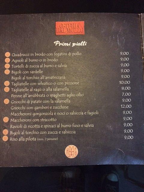 Primi Piatti Osteria Dal Mozzo a Marcaria (MN)