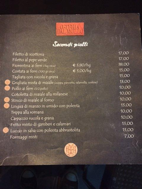 Secondi Piatti Osteria Dal Mozzo a Marcaria (MN)