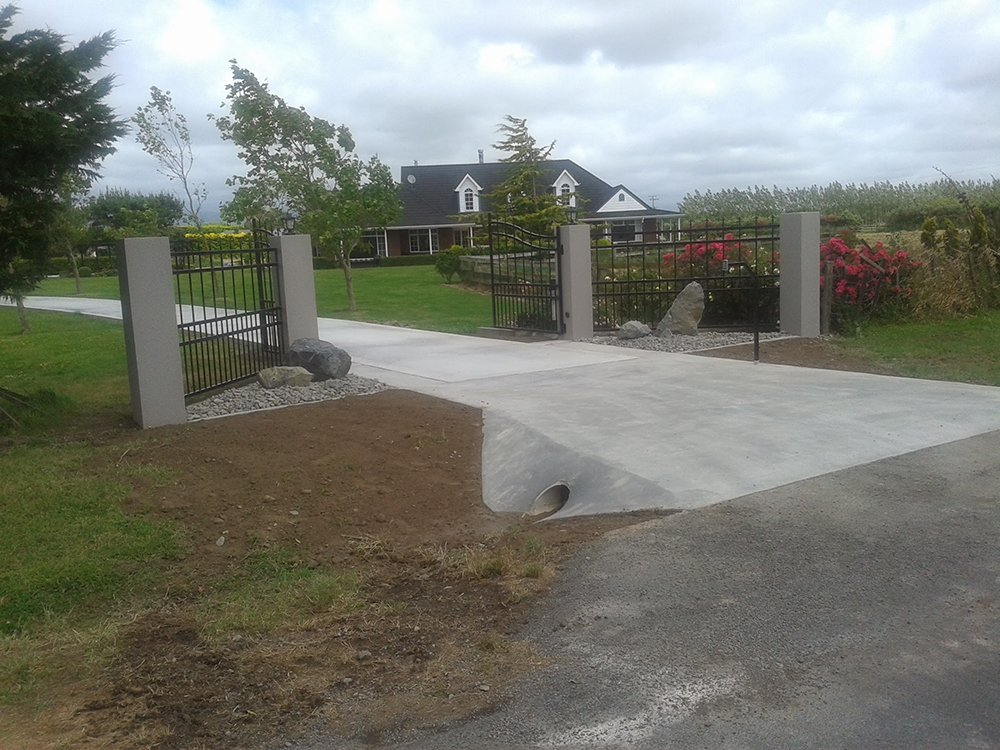 Concrete paving work done by professionals