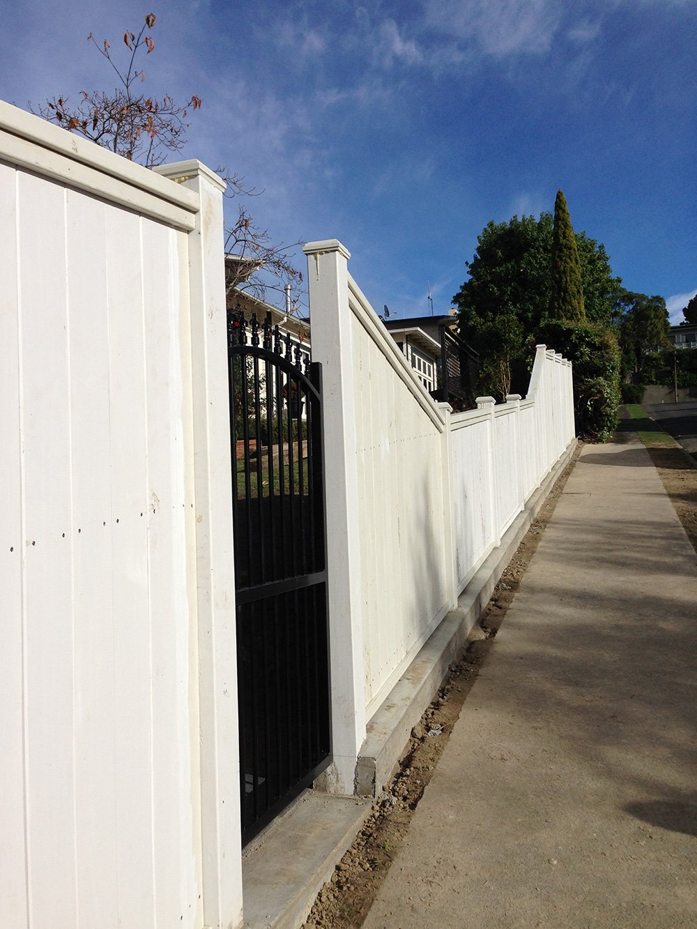 View of a custom fence installed by experts