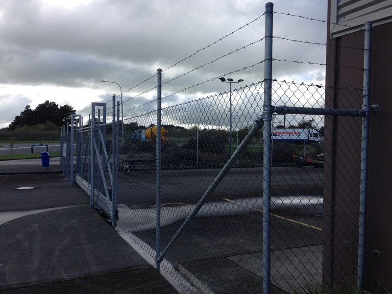 View of the security fencing work done by professionals