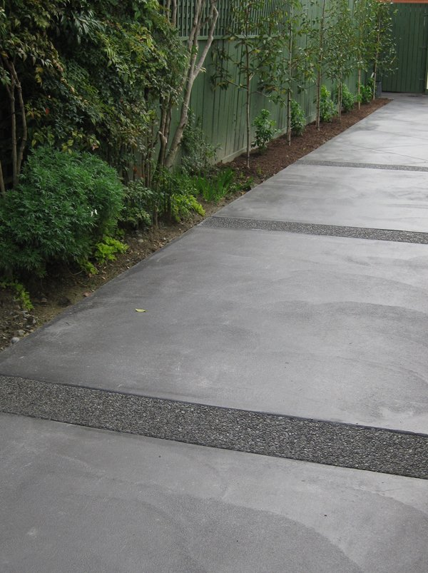 View of a concrete pathway