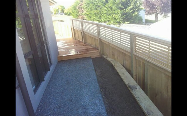 newly installed wooden fence