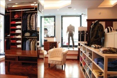 Ampi e confortevoli spazi per la scelta e la prova di abiti e maglieria