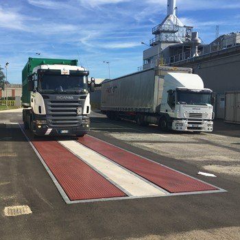 truck approaching weighbridge