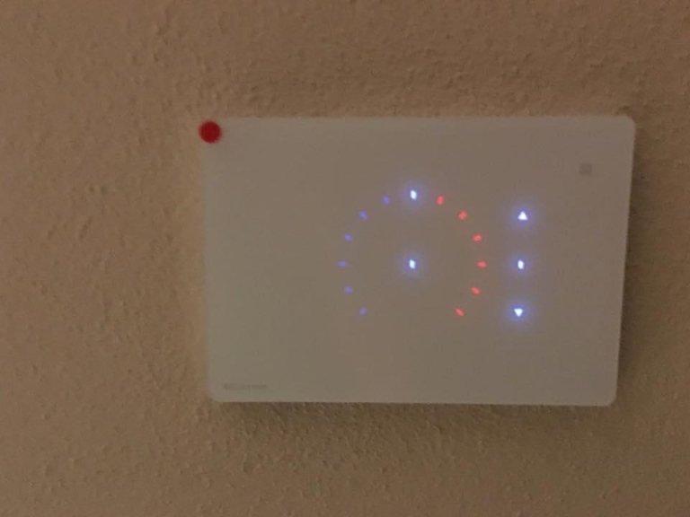 interfaccia touchscreen di controllo impianto domotico La Spezia