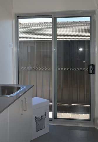 Some of our aluminium sliding doors in Canberra