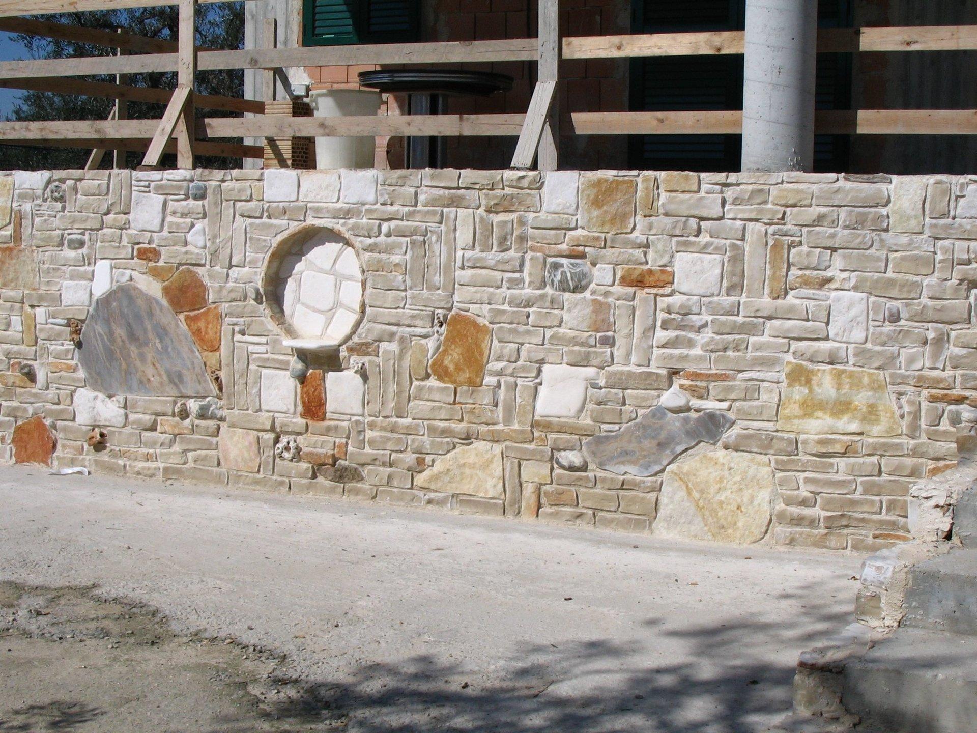 muretto in pietra di veranda