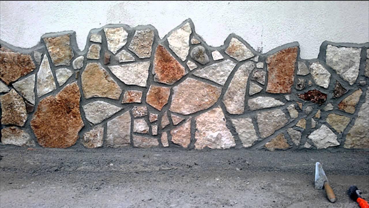 muretto con pietra incerta di vari colori