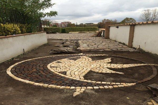 lavori di ristrutturazione lastricato in pietra