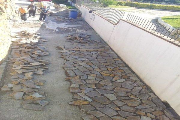 ristrutturazione vialetto in pietra