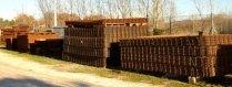 ferro tagliato, ferro tondo, gabbie in cemento armato