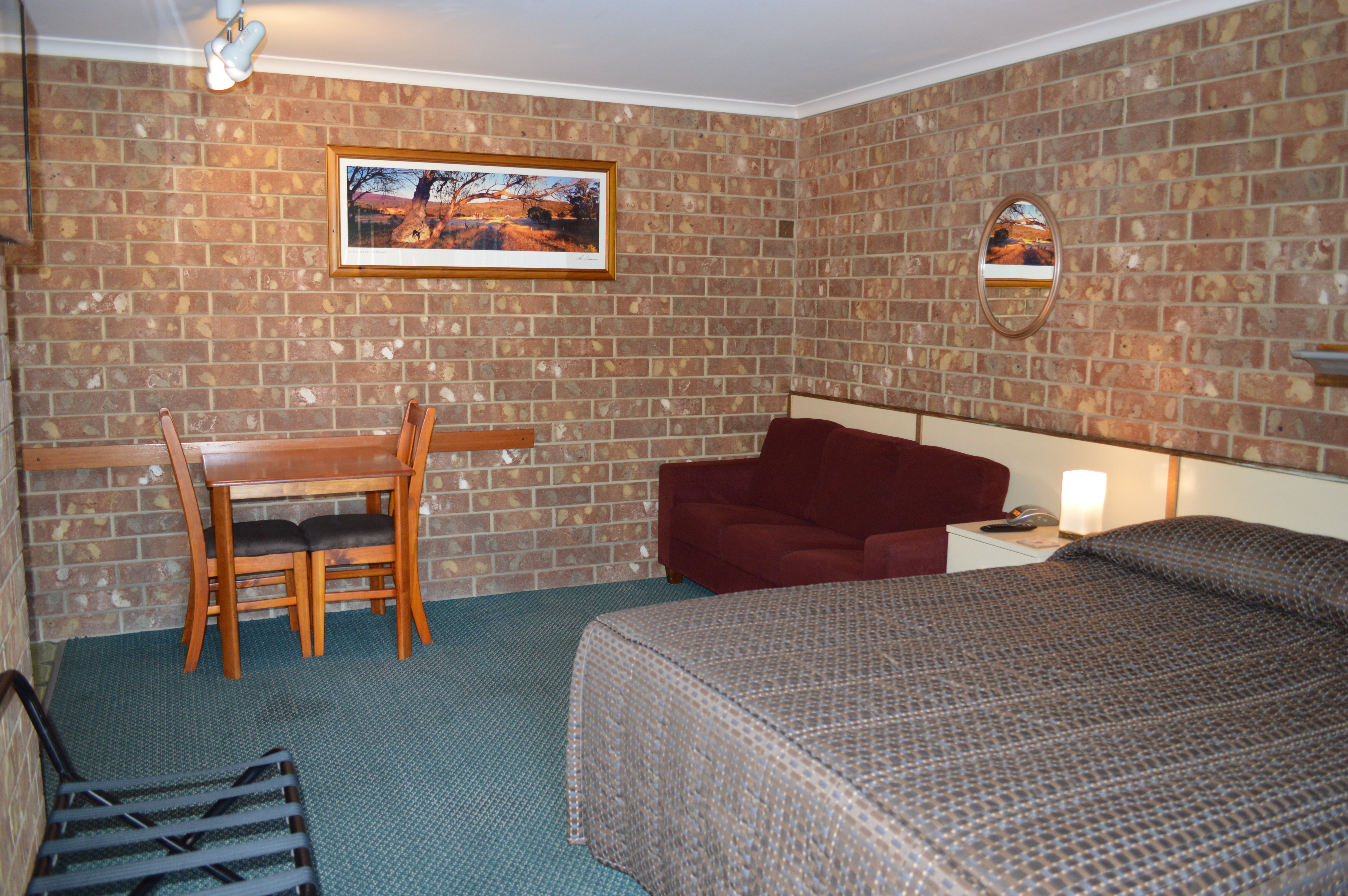 Interior view of the motel room