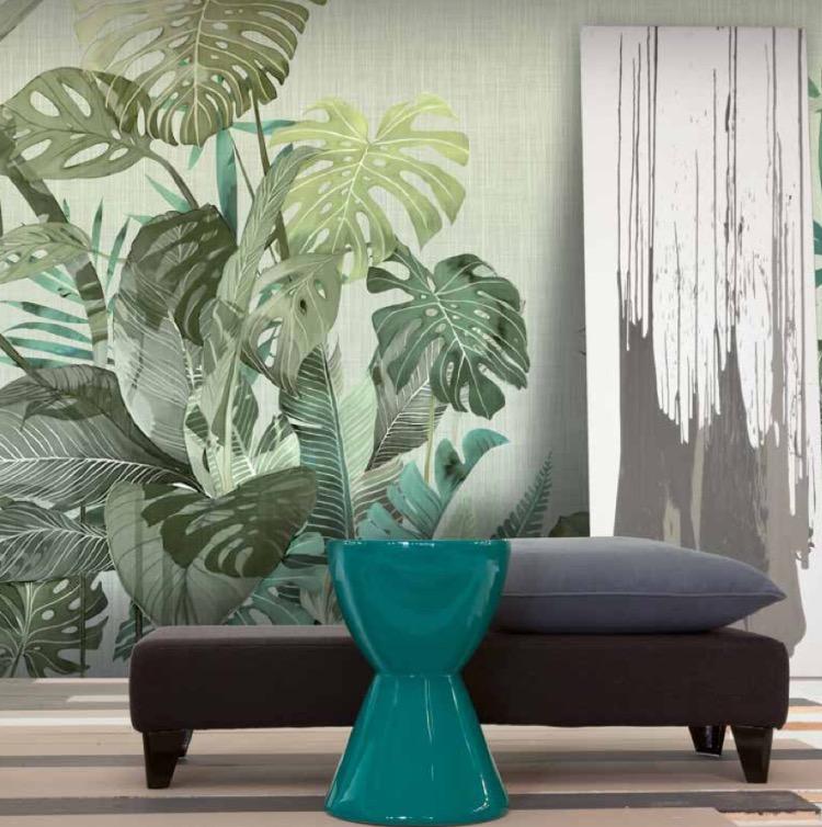 disegno pianta su parete soggiorno