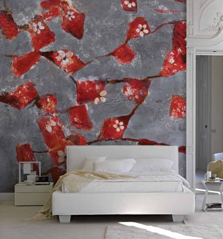parete artistica in stanza da letto