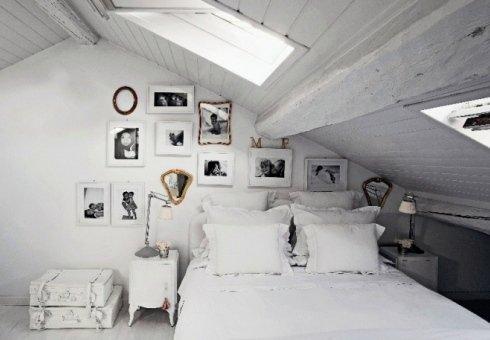 mansarda stanza da letto
