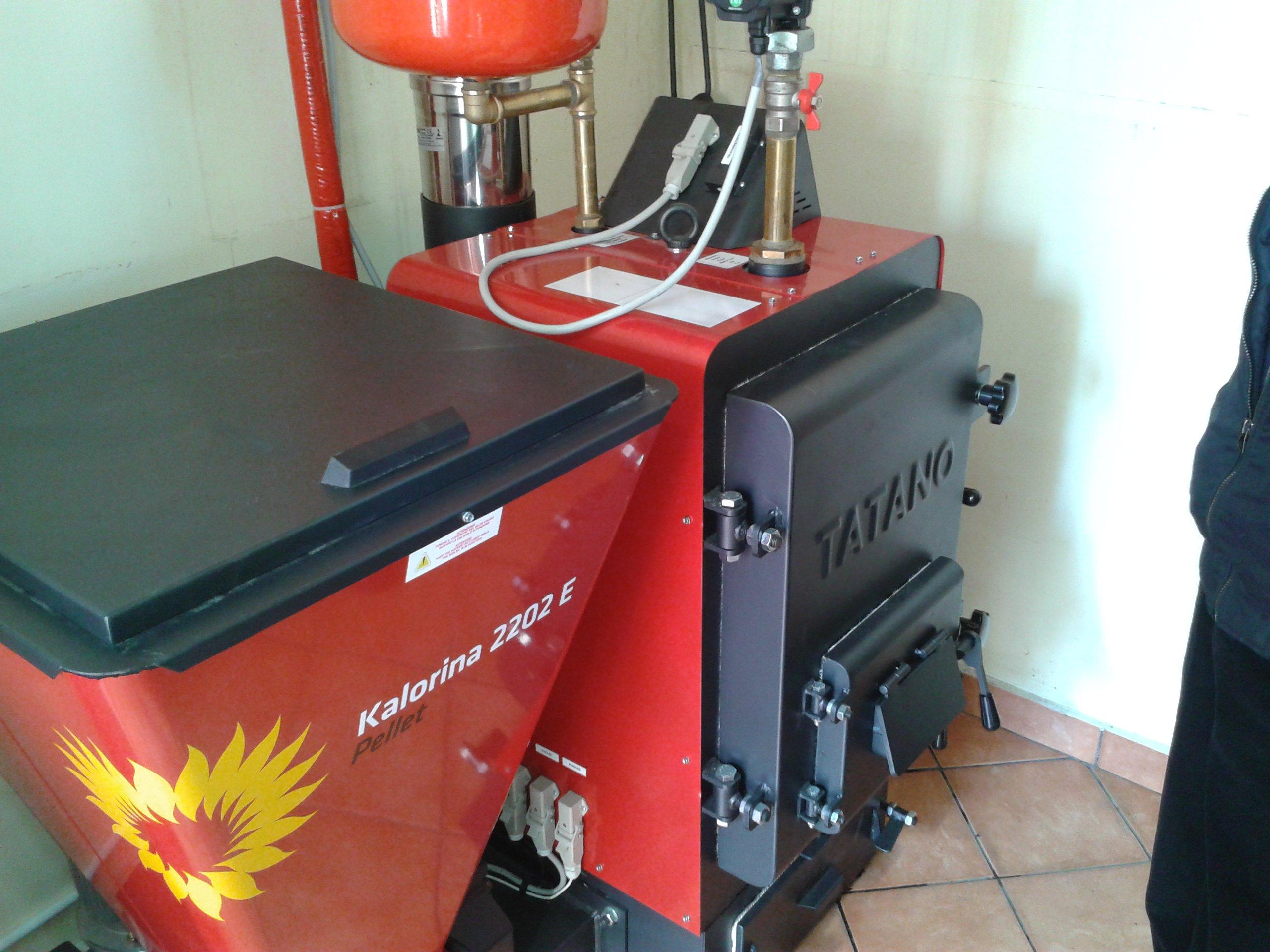 Un impianto di riscaldamento a pellet