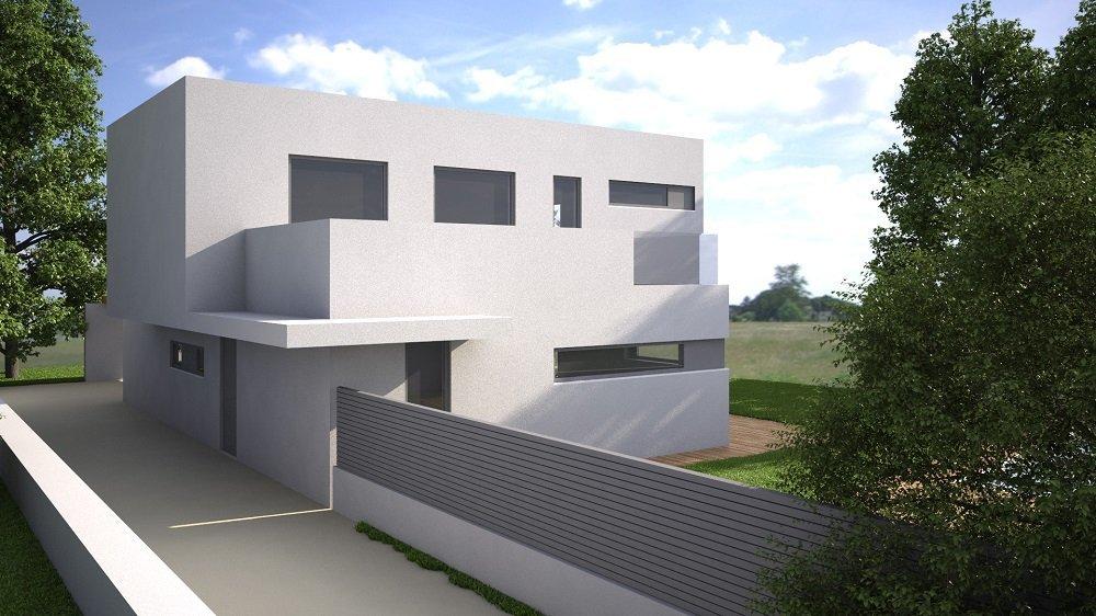 vista esterna di una villa moderna