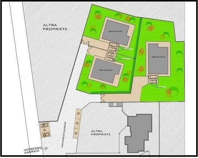 cartina con disegno appartamenti in vendita