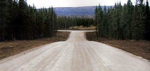 Fairbanks road after performing paving services in Anchorage, AK