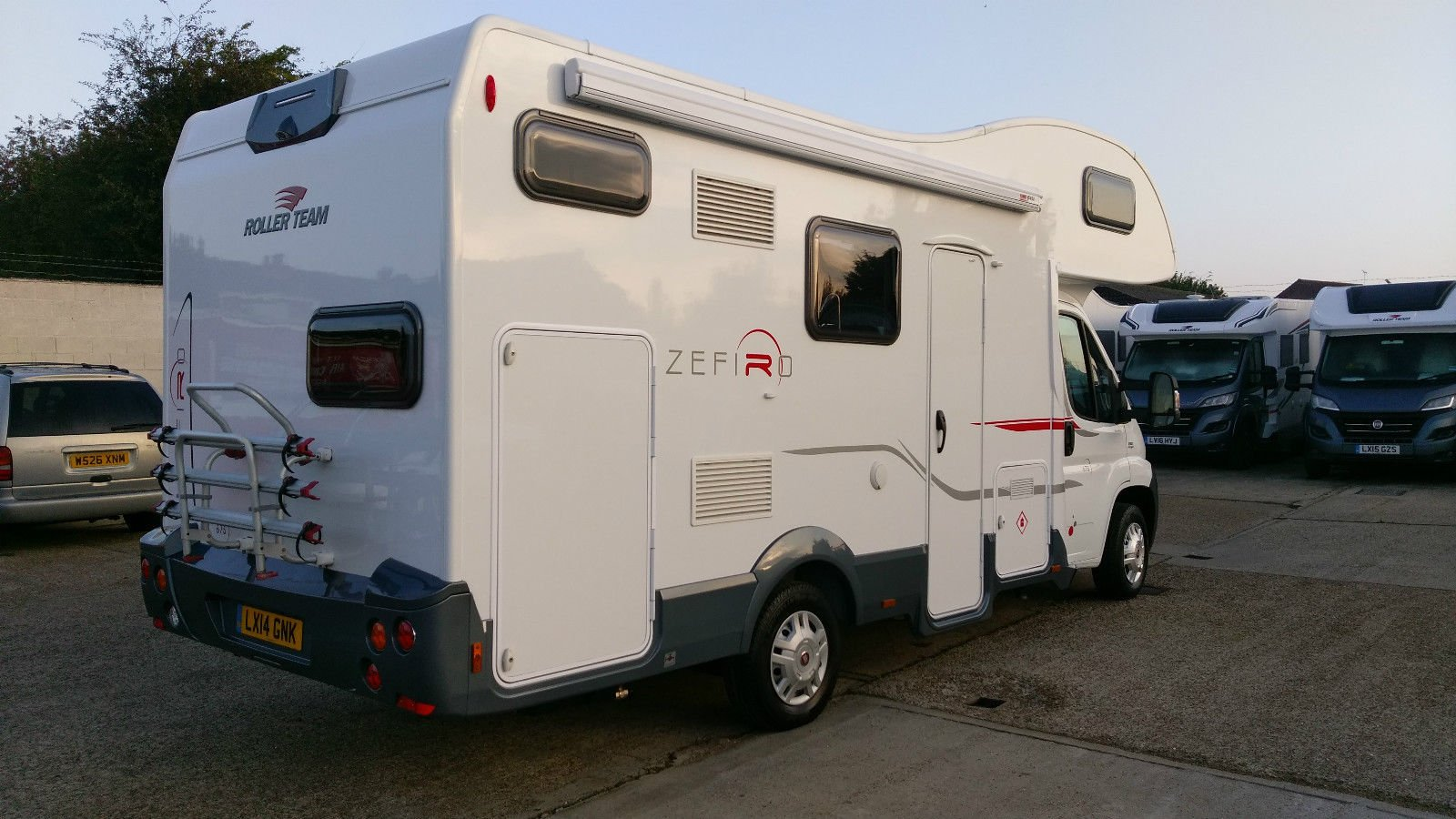 roller team, zefiro 675, 6 beth, motorhome, with 6 seat belts, for sale, second hand, used, motor home,