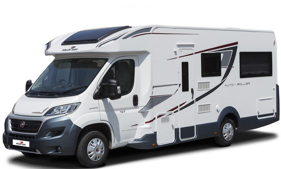european motor-home hire, Auto Roller 747, 6 people berth mobile-home