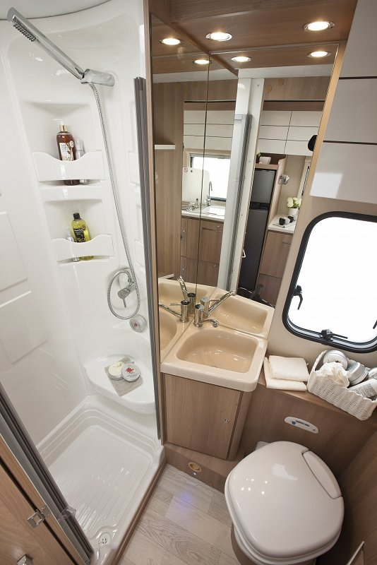 motorhome hire with toilet and shower