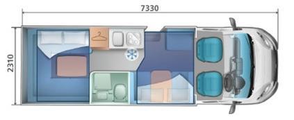 motorhome rental uk AR 747 6 berth for hire