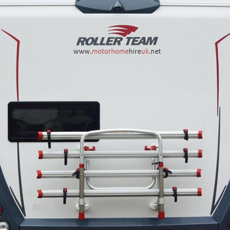 motorhomes with bike rack for hire, uk, london, kent, essex