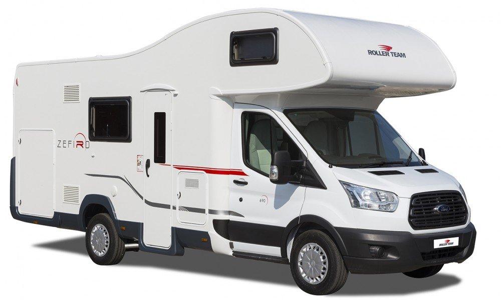 Roller team zefiro 690 with garage 6 berth motorhome for Europe garage seat
