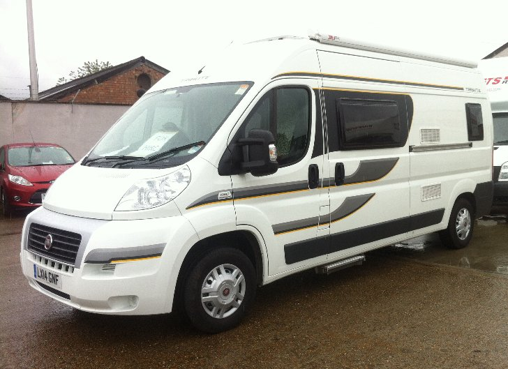 used motorhomes for sale, second hand, 2 berth auto tribute, 670, 2014