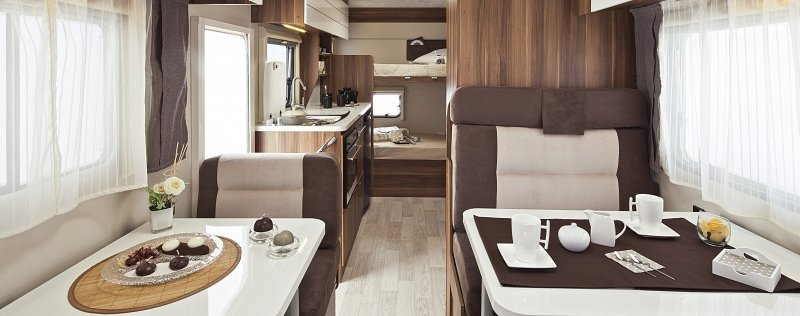 motorhome rental includes pots and pans, glasses, dinner set, cutlery ...