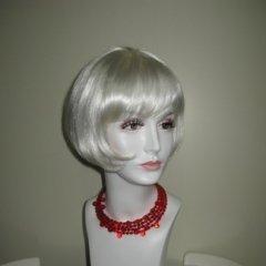 parrucca biondo platino, parrucca argento, biella
