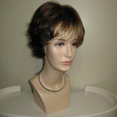 parrucca corta liscia, parrucca castana, biella