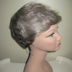 parrucca corta, parrucca biondo grigio, biella