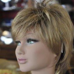 parrucca corta bionda, parrucca corta donna, biella