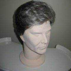 parrucca corta grigia, parrucchino uomo, biella