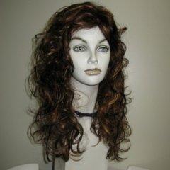 parrucca lunga castana, parrucche con boccoli, parrucche capelli mossi