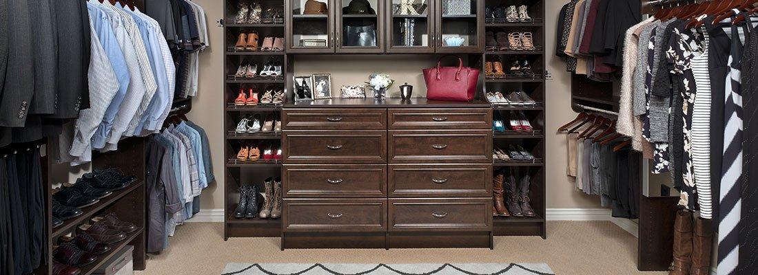 Walk In Master Closet System